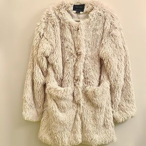 Sanctuary City Stella Cream Faux Fur Jacket NWT